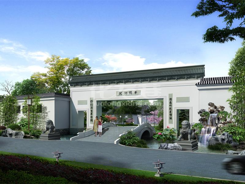 西竹林古式印象,太湖别墅合院庭院,风格相绕,随时看房别墅山水江南图片