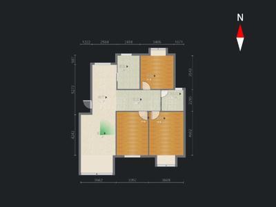 新北区大诚苑3室2厅1卫1厨精装一楼带80平大院