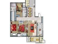 聚湖雅苑核心位置,高层四室两厅,182平210万,三房客厅朝南,毛坯自由设计装修