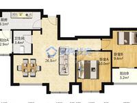 世茂香槟湖二期 纯毛坯2室2厅1卫 84平 146万 好楼层采光 配套齐全