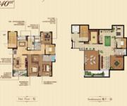 一层3房2厅2卫+地下一层 340㎡