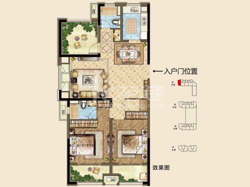14# A 2房2厅2卫 120㎡