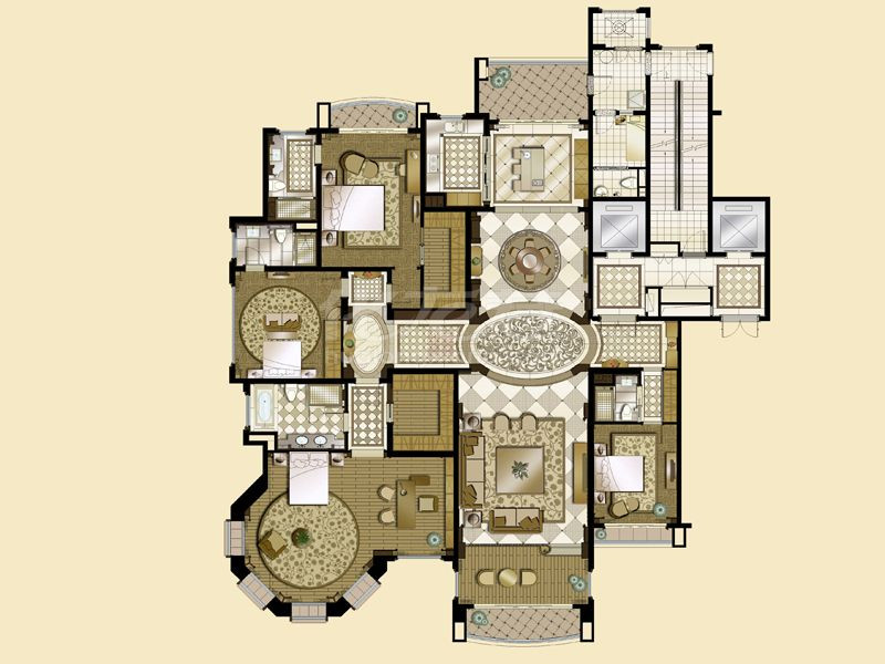 5# A1 5室2厅5卫 427㎡