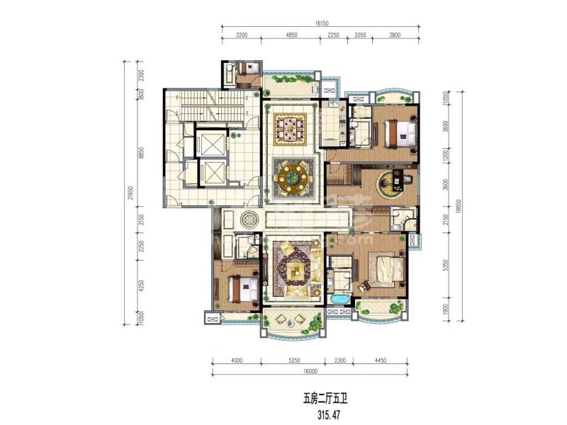 11# 5房2厅5卫 315.47㎡