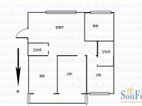 四室两厅两卫 房型佳 阳光充沛 桃园公寓 元丰宜家