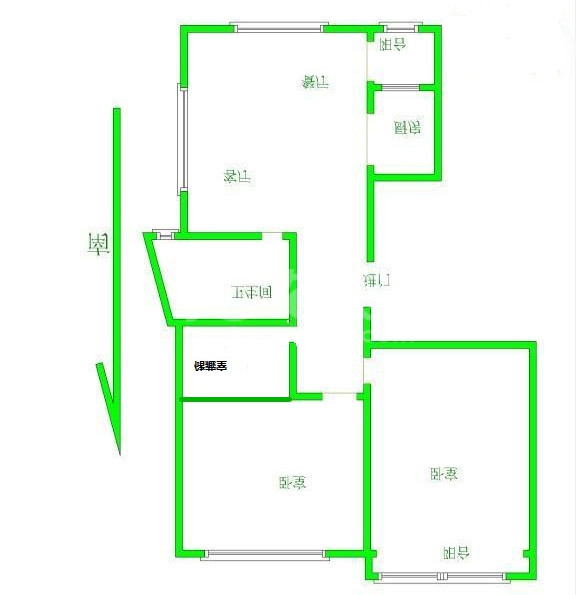 大诚苑 地 铁房 精装3房 满2少税 中间楼层 房东诚售