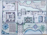 绿地别墅5室3厅5卫。17米面宽、下沉式庭院3车位