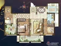 恐龙园板块四朝南双阳台纯毛坯满2房东换房急.售靠阳光龙庭