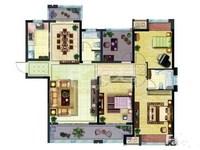 万和城纯毛坯四房,南北通透三朝南,超大双阳台,采光好,有钥匙,看房方便