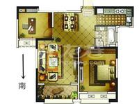 嘉禾尚郡纯毛坯两房,两开半间朝南,采光好,不靠高架,房东诚售