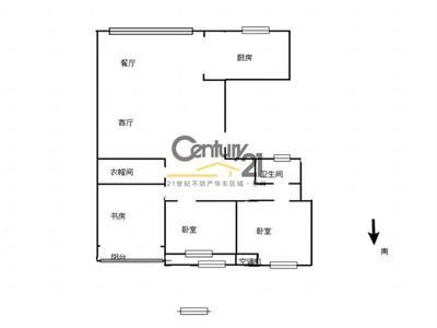 三房朝南 紫金城 精装三房 采光佳 满两年 省税 房东急售