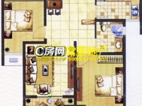 香缇湾花园 2室2厅 毛坯房 142万 满两年 难得的好房!