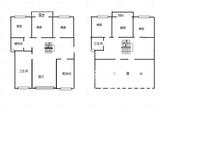 新挂牌,蓝天花园顶复,电梯房毛坯6房2卫,带大露台!