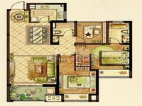 龙湖龙誉城107平3室2厅2卫毛坯,三朝南户型佳采光佳,162万急售
