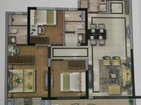 碧桂园金科光明府 高科技住宅恒温恒湿系统 经典三房两卫随时看