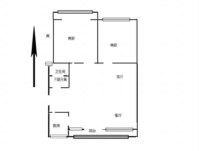 勤德家园精装两房朝南 客厅宽阔明厨明卫 110平154.5万采光充足