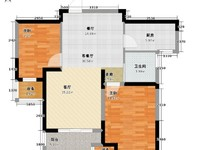龙涛香谢丽园旁龙涛紫郡毛坯2房满5年省税性价比高价好谈随时看