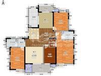世茂二期大平层 房东低价出 四开间朝南 采光极好 南北通透楼W位置 随时看房