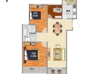 时代上院105平三房满2 南北通透 中层 有钥匙 随时看房