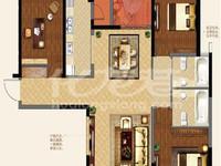 新出万达中央华城毛坯三房,地铁口,户型方正,南北通,有钥匙随时看房