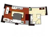 凯纳商务广场 精装公寓 可落户一大一小两个人 可上西新桥小学