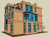 世茂东边户别墅,已花百万重金扩建,赠2个车库,南北200平大院,自带电梯井