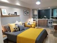 九洲湾星公寓50平米45万左右,有天然气,地块1号线旁,近环球港