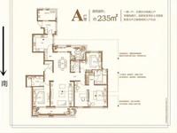 金地天际毛坯大平层4室2厅2卫235.6平米310万住宅