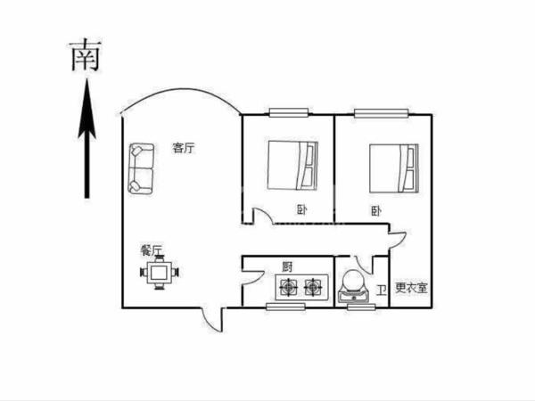 240万出售南大街云庭公寓2室2厅1卫107平米240万住宅 优质教育 价格面议