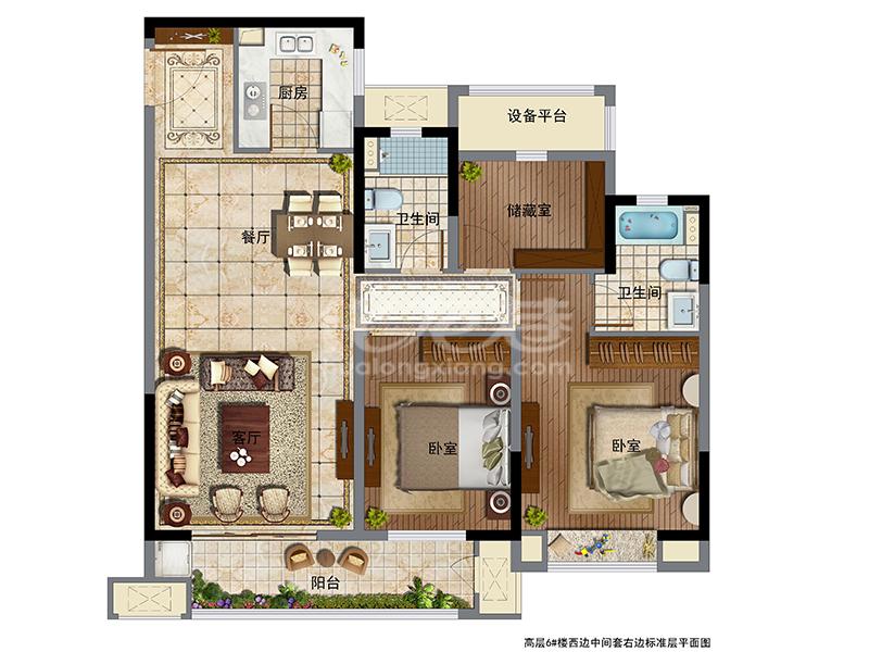 高层6#楼113㎡