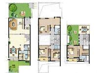 香树湾别墅227平毛坯,地上3层,地下一层,带大花园送露台