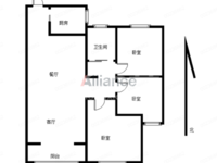 路劲城高挡小区 小三房 精装修 低楼层8楼 户型周正性 价比超高