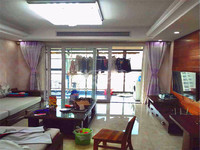 滨江明珠城精装修带中柍空调两房两厅一厨一卫一阳台中上好楼层采光不担心
