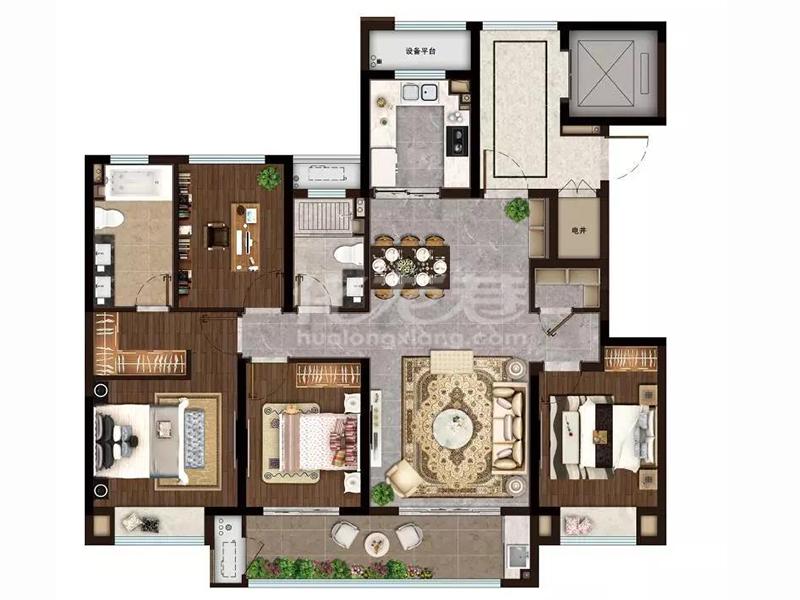 四房两厅两卫 143㎡