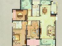 御城 不靠高架毛坯4房2卫 标准南北通透 3个阳台 全天采光
