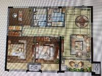 紫金城 星河国际3房毛坯 星河小学 中上楼层房子响亮