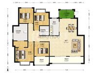 湖塘玉兰广场4期花园洋房,4开间朝南,5房2卫,户型极好,实小本部,看房方便