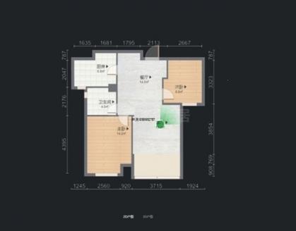 新城香悦半岛 12楼 豪装2房 龙湖天街旁 三朝南 满五唯一