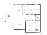 地铁口九洲花园精装大三房,满2,好楼层,采光无敌,诚售