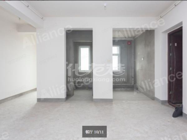 绿地香颂 毛坯房 满两年 大阳台 三居卧 小高层视野好 户型空间感很好
