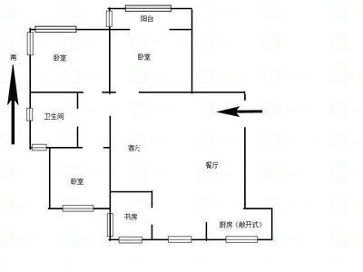 青山湾精装修三房 楼层佳 采光好 南北通透 觅小 北郊中学 拎包入住 交通便利