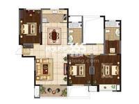 莱蒙城对面弘建一品毛坯四房出售 赠送面积30多平 客厅朝南金典户型
