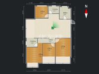 保利公园九里 顶层3室2厅1厨2卫2阳台 采光极好 舒适度高