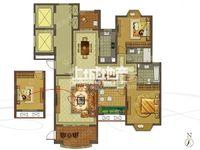 大名城163平3室2厅2卫毛坯中层售价272万三朝南户型
