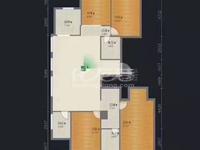 吾悦广场 玉兰广场大平层4房 精装修 双南阳台楼层好全天太阳 满二
