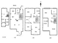 770万出售市中心璞丽湾稀缺联排别墅 毛坯 满二年 上下四层 带天井 价格面议