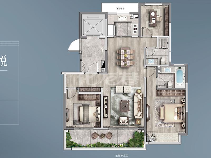 122㎡ 3房2厅2卫