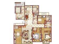 新出钟楼区御园林城豪装大4房,中央空调品牌卫浴三朝南,户型好单价便宜满两年手慢无