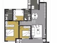 出租新城都荟3室2厅2卫120平米2500元/月住宅